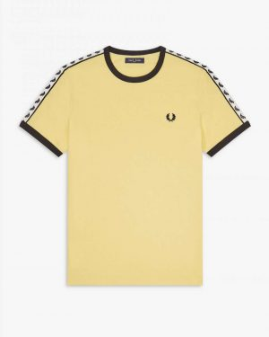 Fred Perry Taped Ringer T-shirt Yellow