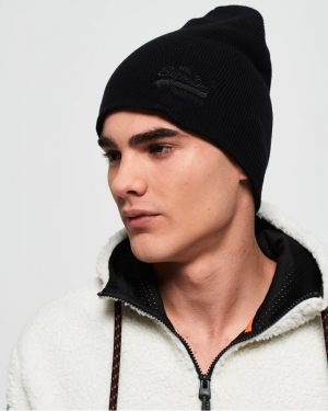 Superdry Orange Label Beanie Black