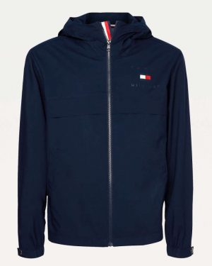 Tommy Hilfiger Hooded Jacket Blue