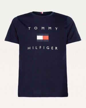 Tommy Hilfiger Flag T-shirt Navy blue