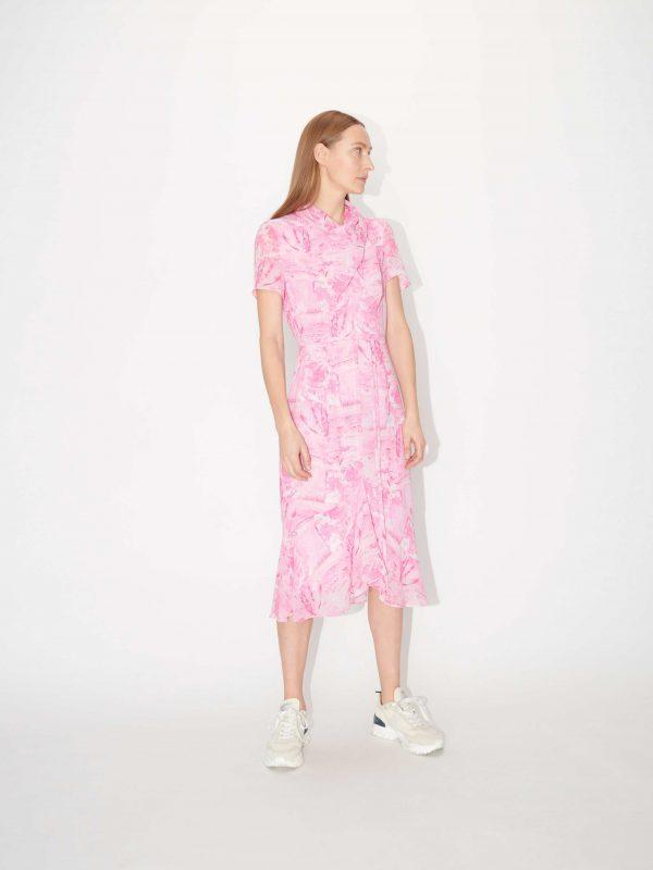 Tiger of Sweden Galia Printed Dress Pink