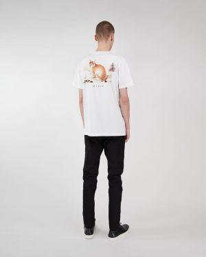 Makia x Von Wright Lynx T-shirt White