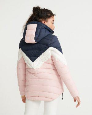 Superdry Colourblock Eclipse Jacket Pink