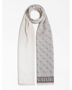 Guess Cathleen Jacquard Scarf Brown