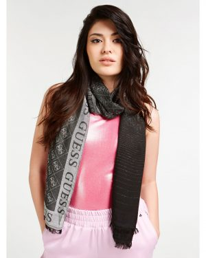 Guess Cathleen Jaquard Scarf Black