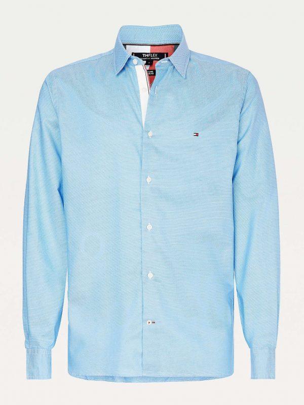 Tommy Hilfiger Flex Two Tone Shirt Blue