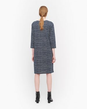Marimekko Varpu Räsymatto Dress Dark Blue