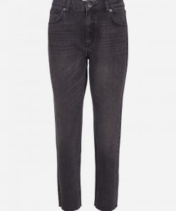 Moss Copenhagen Crystal Mom Jeans Black Washed