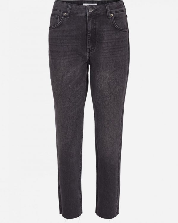 Moss Copenhagen Crystal Mom Jeans Black Washed