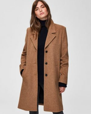 Selected Femme Sasja Wool Coat Amphora