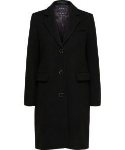 Selected Femme Elina Wool Coat Black