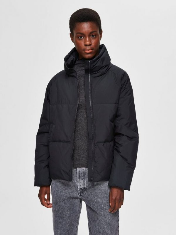 Selected Femme Daisy Down Jacket Black