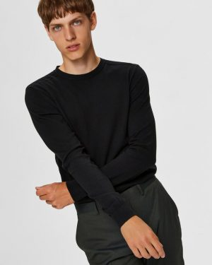 Selected Berg Crew Neck Black