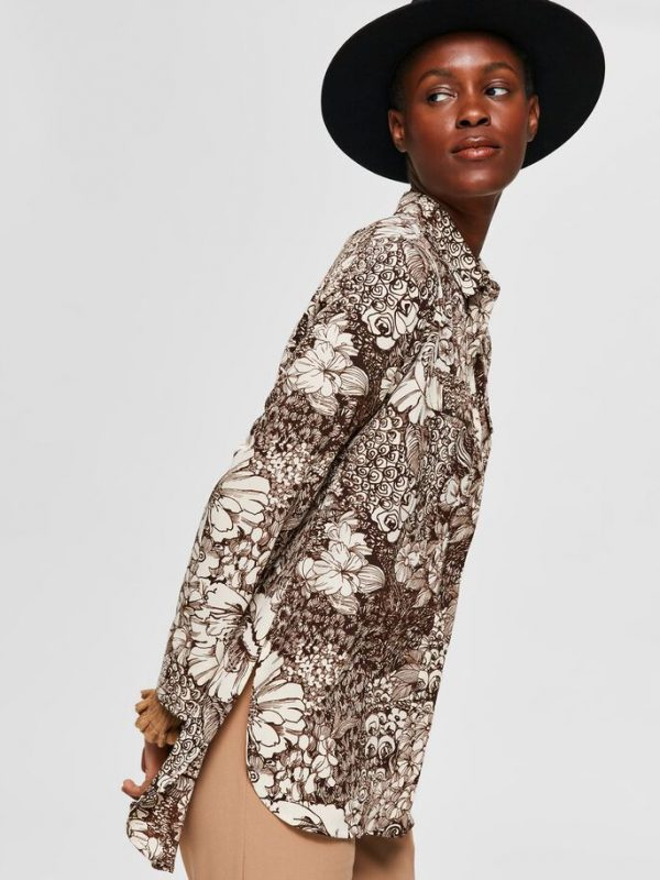 Selected Femme Zuri Shirt Beige