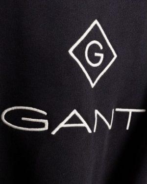 Gant Lock Up C-Neck Sweatshirt Black