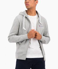 Champion Hooded Full-Zip Sweatshirt Light Grey