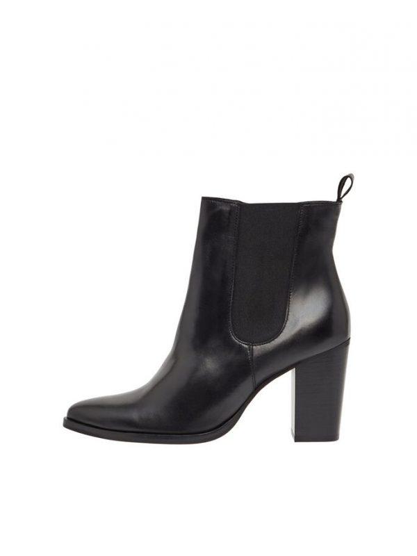 Bianco Biajudia Leather Boots Black
