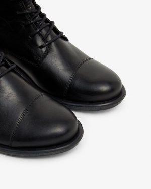 Bianco Biadanelle Leather Boots Black