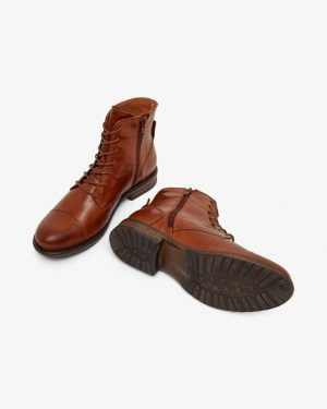 Bianco Biadanelle Leather Boots Cognac
