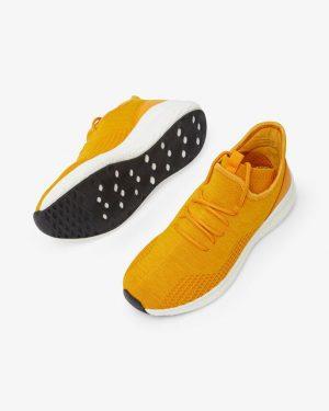 Bianco Biadelana Knit Sneakers Mustard