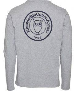 Knowledge Cotton Apparel Locust Long Sleeve Grey