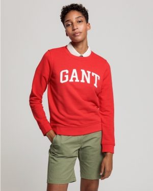 Gant Arch Logo C-Neck Sweat Love Potion