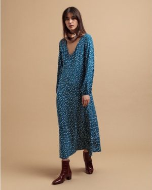 Gant Desert Rose Viscose Dress Dark Teal