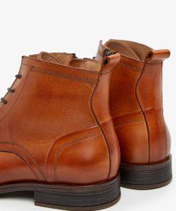 Bianco Biabyron Leather Lace-up Boots Brandy