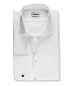 Stenströms Slimline Shirt with French Cuffs White