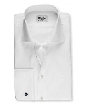 Stenströms Slimline Shirt with French Cuffs White
