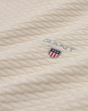 Gant Triangle Texture Crew Pullover Cream