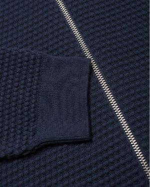 Knowledge Cotton Apparel Field Zip Cardigan Total Eclipse
