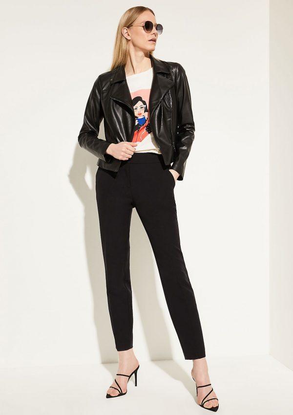 Comma, Faux Leather Jacket Black