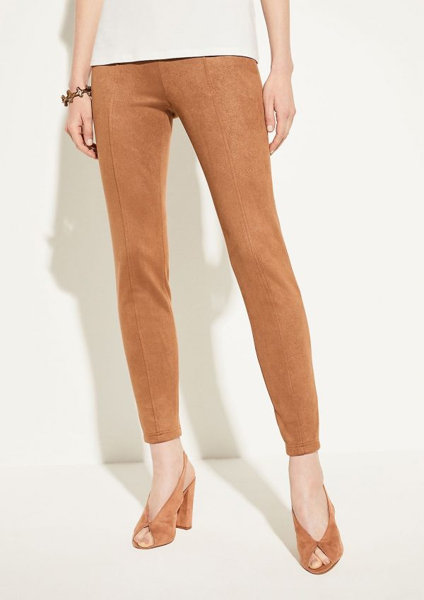 Comma, Suede Trousers Camel Velour
