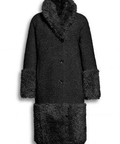 Beaumont Mix Lammy Reversible Long Coat Black