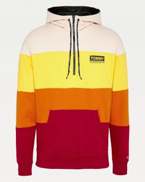 Tommy Jeans Half Zip Colour-Blocked Hoodie Multicolor