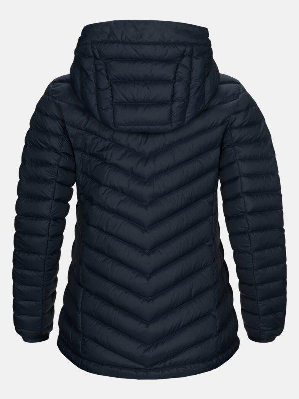 Peak Performance Frost Down Hood Jacket Women Blue Shadow