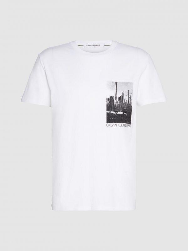 Calvin Klein NY Photoprinted Pocket T-shirt Bright White