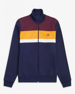Fred Perry Colour Block Track Jacket Carbon Blue