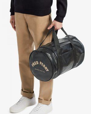 Fred Perry Tonal Barrel Bag Black