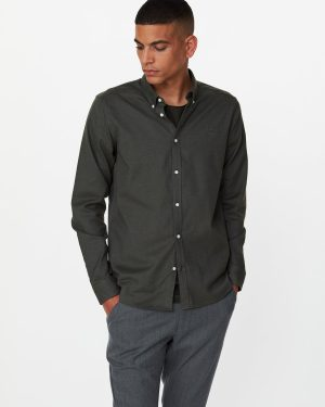 Les Deux Harrison B.D Brushed Shirt Deep Forres