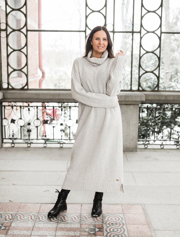 Pura Love Maxi Polo Dress Light grey