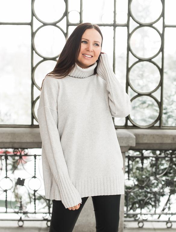 Pura Love Polo Knit Light Grey