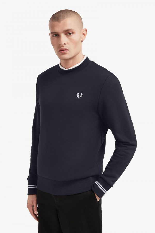 Fred Perry Crew Neck Sweatshirt Navy