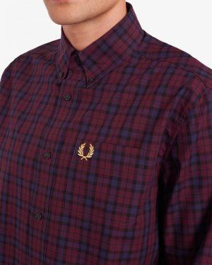 Fred Perry Winter Tartan Shirt Mahogany