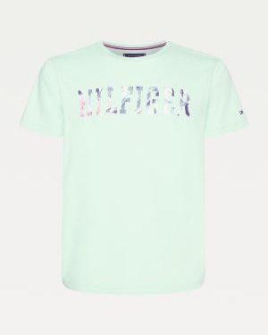 Tommy Hilfiger Floral Logo T-shirt Neo Mint