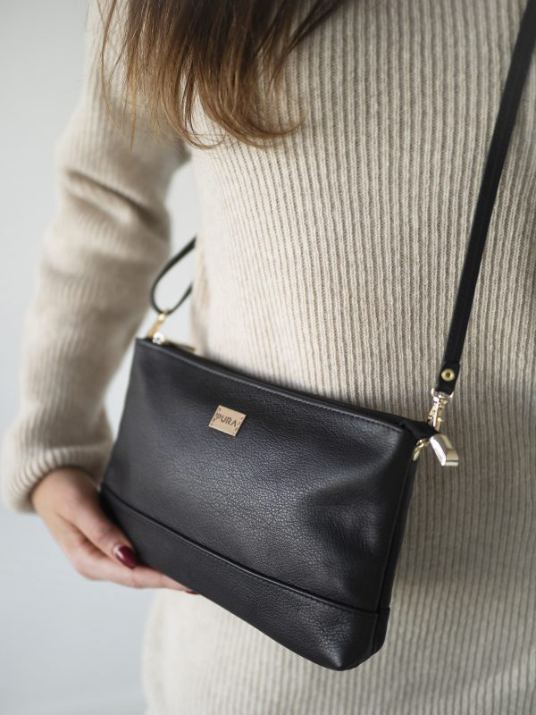 Pura Small Leather Clutch Black