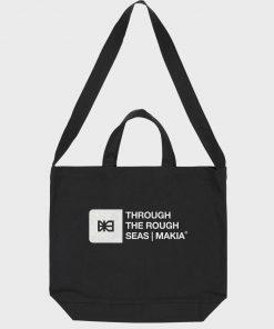 Makia Flint Shoulder Tote Bag Black