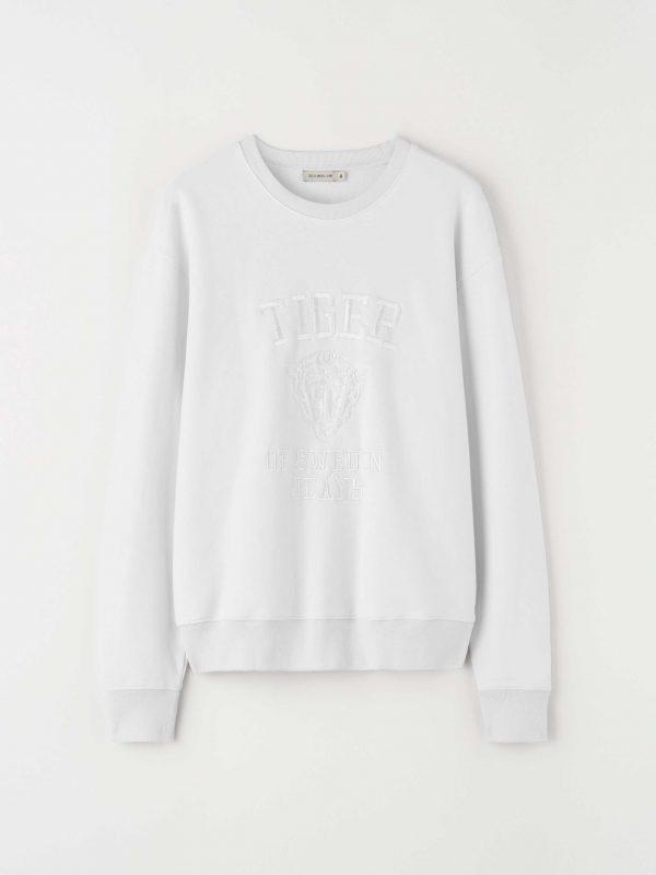 Tiger Jeans Zoab Emb Sweatshirt White Light