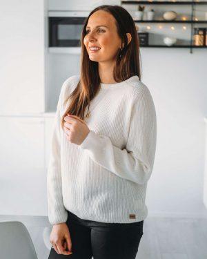 Pura Warm Short Knit Off-white